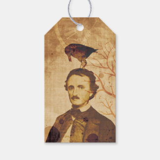 Edgar Allan Poe Quoth the Raven Nevermore Gift Tags