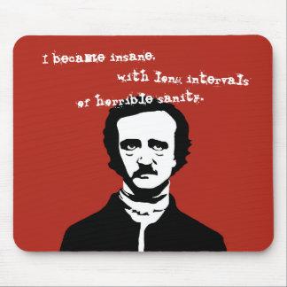 Edgar Allan Poe Silhouette Mouse Pad