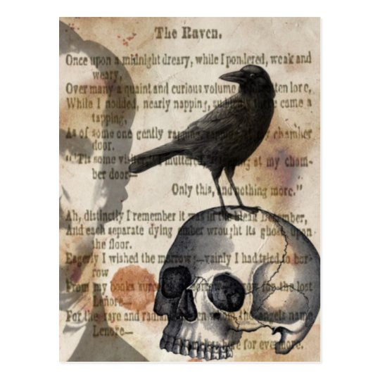 Edgar Allan Poe The Raven Skull and BIrd