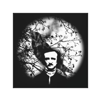 Edgar Allan Poe 'The Raven' Stretched Canvas Print