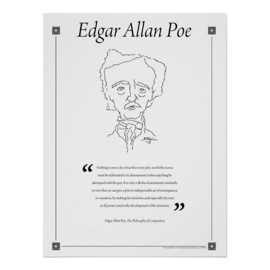 Edgar Allan Poe Writing Quote Poster
