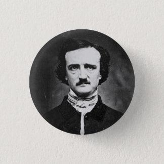 Edgar allen poe 3 cm round badge