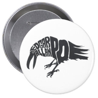 Edgar Allen Poe - The Raven 10 Cm Round Badge