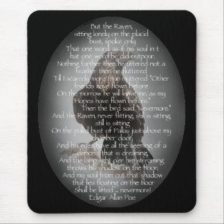 """Edgar Allen Poe """"The Raven"""" Halloween Poem bird Mouse Pad"""