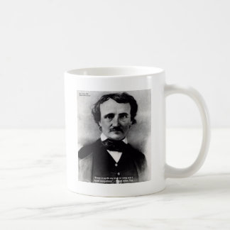 """Edgar Allen Poe """"Weep Alone"""" Love Quote Gifts Coffee Mugs"""