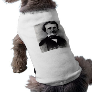 "Edgar Allen Poe ""Weep Alone"" Love Quote Gifts Sleeveless Dog Shirt"