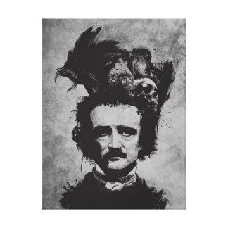 "Edgar Allen Poe Wrapped Canvas 18"" x 24"", 1.5"""