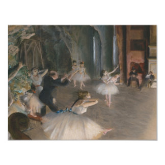 Edgar Degas 11 Cm X 14 Cm Invitation Card