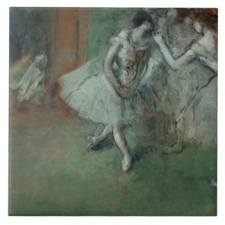 Edgar Degas – A Group of Dancers Large Square Tile