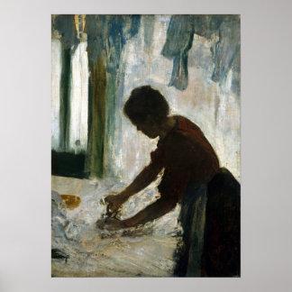 Edgar Degas A Woman Ironing Poster