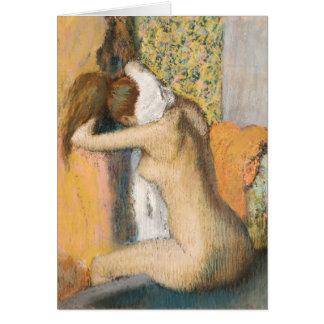 Edgar Degas   After the Bath, Woman Drying Neck Card
