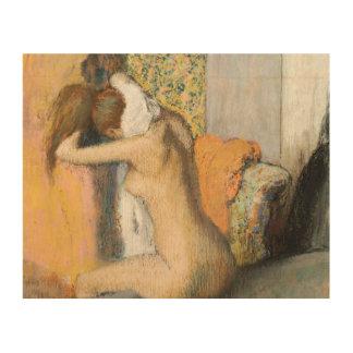 Edgar Degas   After the Bath, Woman Drying Neck Wood Prints