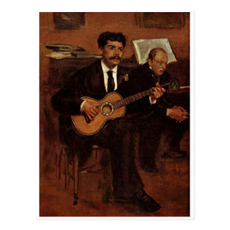 Edgar Degas  - Artist's Father 1871-72 Oil Canvas Postcard