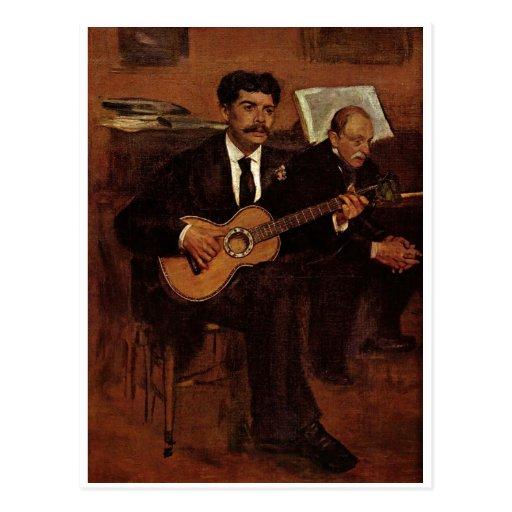 Edgar Degas  - Artist's Father 1871-72 Oil Canvas Postcards