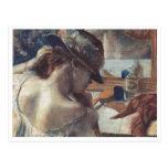 Edgar Degas - At Mirror 1899 Pastel Paper dancer