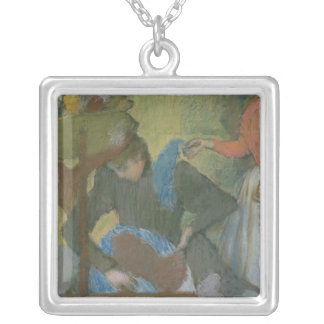 Edgar Degas   At the Milliner's, c.1898 Silver Plated Necklace