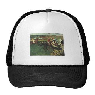 Edgar Degas - At the Races 1877-1880 Horse Jockey Mesh Hats
