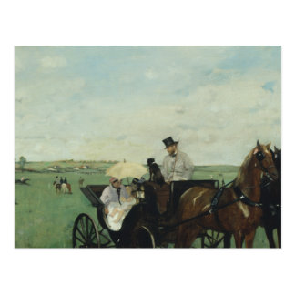 Edgar Degas – At the Races in the Countryside Postcard