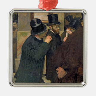 Edgar Degas | At the Stock Exchange, c.1878-79 Silver-Colored Square Decoration