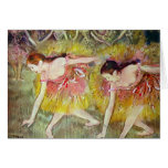 Edgar Degas - Ballet dancers Card