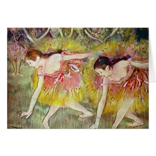 Edgar Degas - Ballet dancers Card