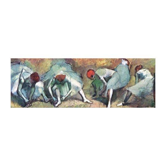 Edgar Degas - Ballet Dancers Tying Shoes Canvas