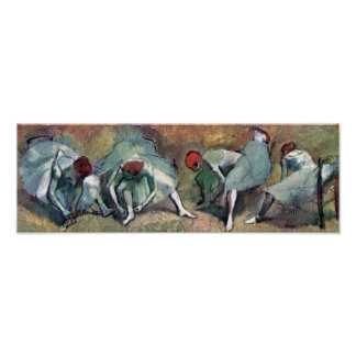 Edgar Degas - Ballet Dancers Tying Shoes Poster