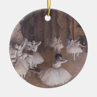 Edgar Degas | Ballet Rehearsal on the Stage, 1874 Christmas Ornament