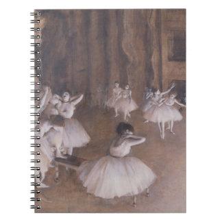 Edgar Degas | Ballet Rehearsal on the Stage, 1874 Spiral Notebook