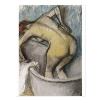 Edgar Degas - Bath Woman Supporting Back 1887 Postcard