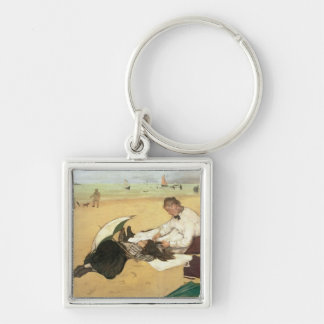 Edgar Degas | Beach scene Key Ring