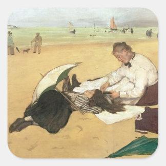 Edgar Degas | Beach scene Square Sticker