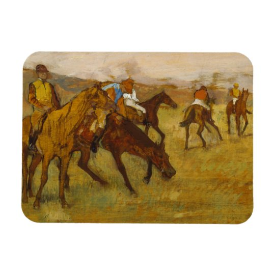 Edgar Degas - Before the Race Rectangular Photo Magnet