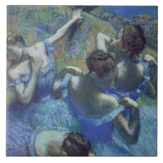 Edgar Degas | Blue Dancers, c.1899 Large Square Tile