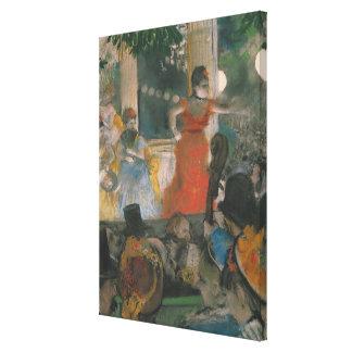 Edgar Degas   Cafe Concert at Les Ambassadeurs Canvas Print