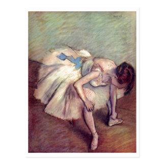 Edgar Degas - Dancer 1881-83 Ballet Stretch pastel Postcard