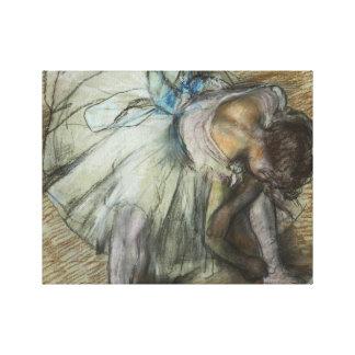 Edgar Degas - Dancer Adjusting Her Shoe Canvas Print