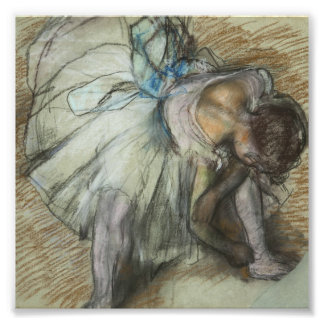 Edgar Degas - Dancer Adjusting Her Shoe Photographic Print