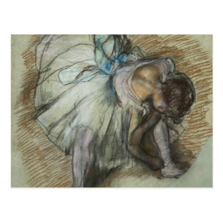 Edgar Degas - Dancer Adjusting Her Shoe Postcard