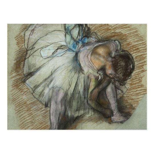 Edgar Degas - Dancer Adjusting Her Shoe Postcard