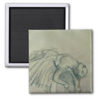 Edgar Degas | Dancer Fixing her Slipper, c.1865 Magnet