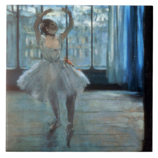 Edgar Degas | Dancer in Front of a Window Large Square Tile
