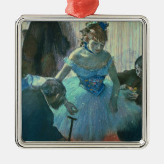 Edgar Degas | Dancer in her dressing room Silver-Colored Square Decoration