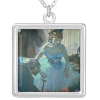 Edgar Degas | Dancer in her dressing room Silver Plated Necklace
