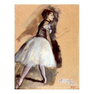 Edgar Degas - Dancer in step position Postcard