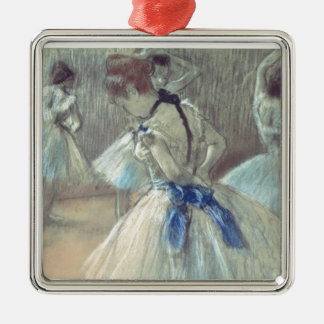 Edgar Degas | Dancer Silver-Colored Square Decoration