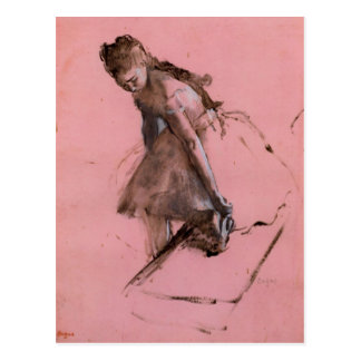 Edgar Degas - Dancer slipping on her shoe Postcard