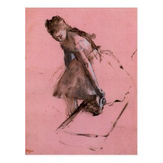 Edgar Degas - Dancer slipping on her shoe Postcards
