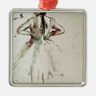 Edgar Degas | Dancer viewed from the back Silver-Colored Square Decoration