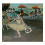 Edgar Degas | Dancer with bouquet, curtseying Poster